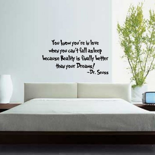 You Know You Re In Love When Quotes: Dr. Seuss Quotes Wall Decals